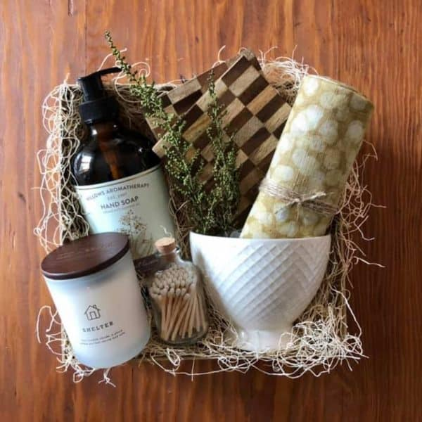 thinking of you gift basket customized for new homeowner wichita ks