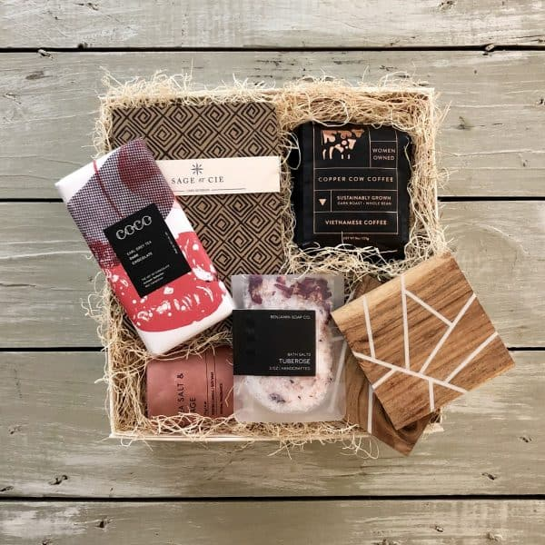 relaxation gift basket for that special someone kindred and kel wichita ks