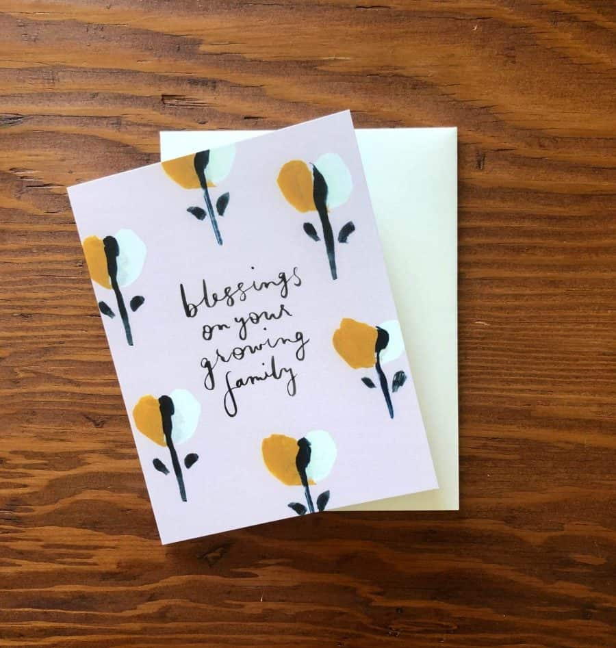 blessings on your growing family notecard collection kindred and kel wichita ks