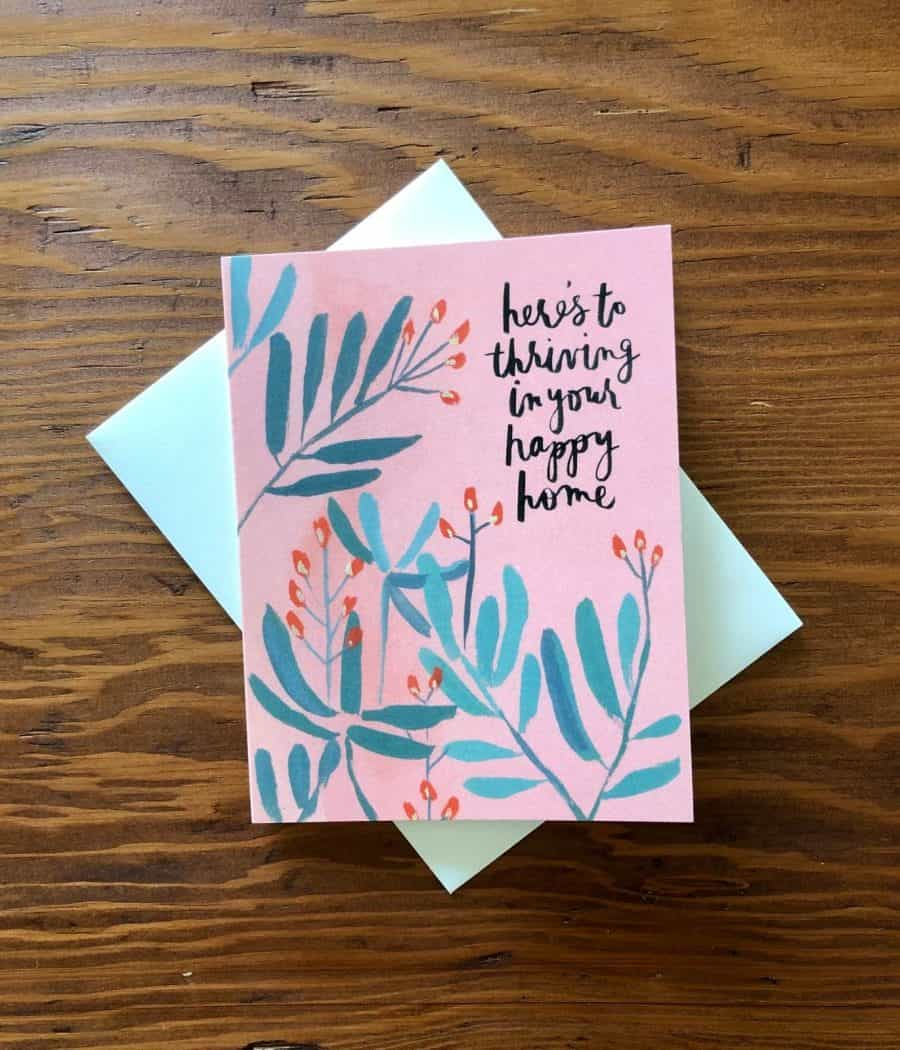 HERES TO YOUR NEW HOME NOTECARD COLLECTION AT KINDRED AND KEL WICHITA KS