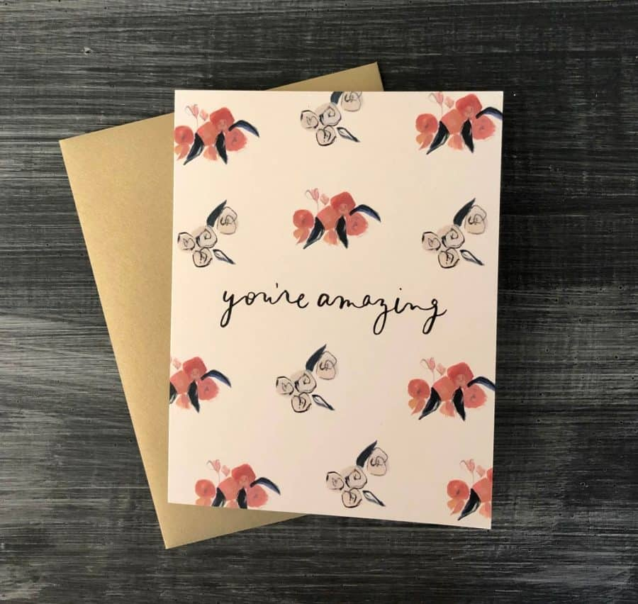 KINDRED AND KEL NOTECARD COLLECTION WICHITA KS CARD READS YOU ARE AMAZING