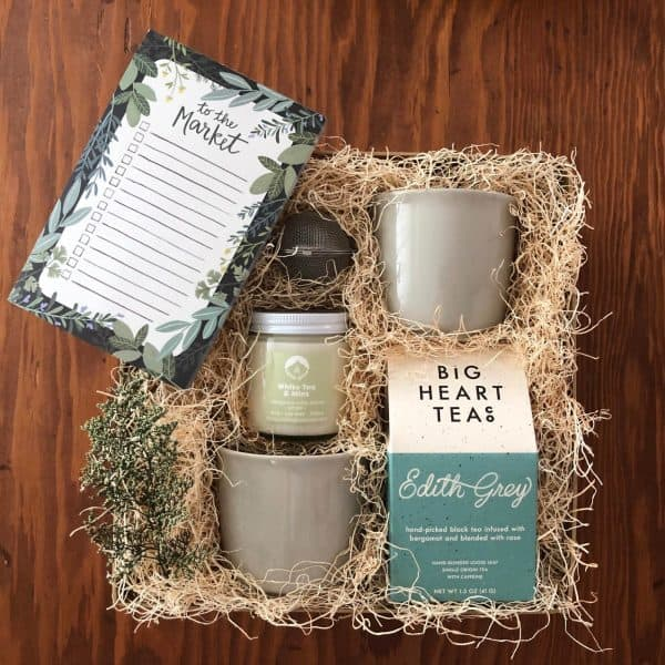gift box for the tea lover in your life showing gift box detail kindred and kel wichita ks