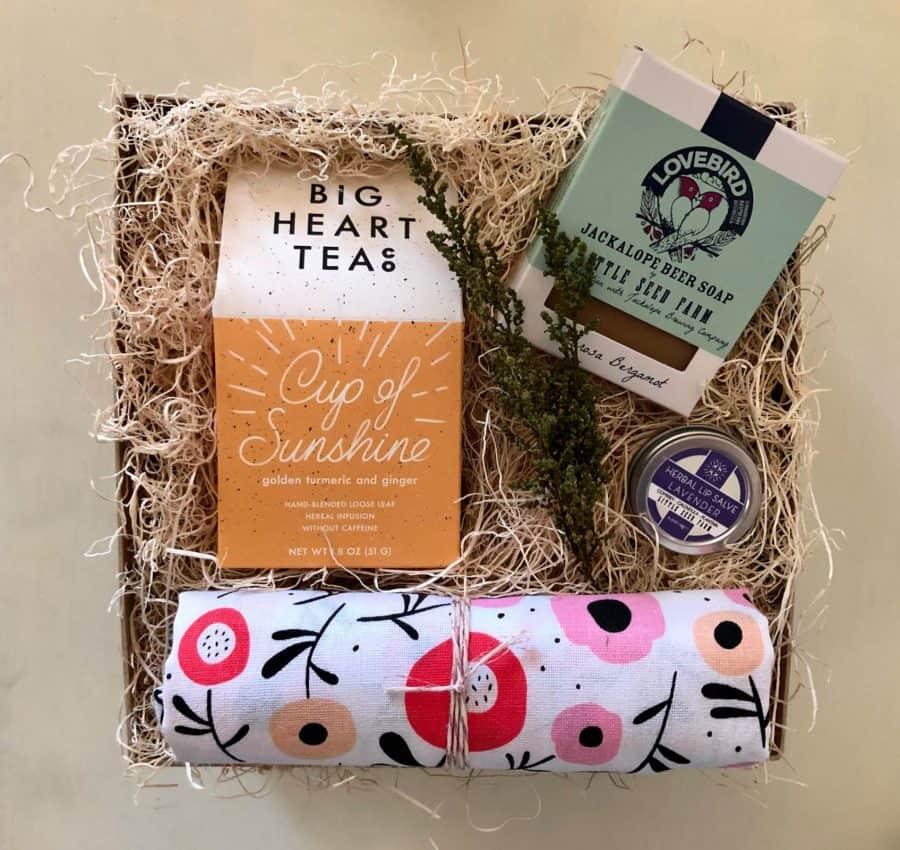 kinred and kel custom gift box for house warming gift wichita ks