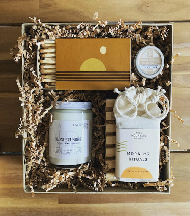 Golden Morning Gift Box with soap and candles